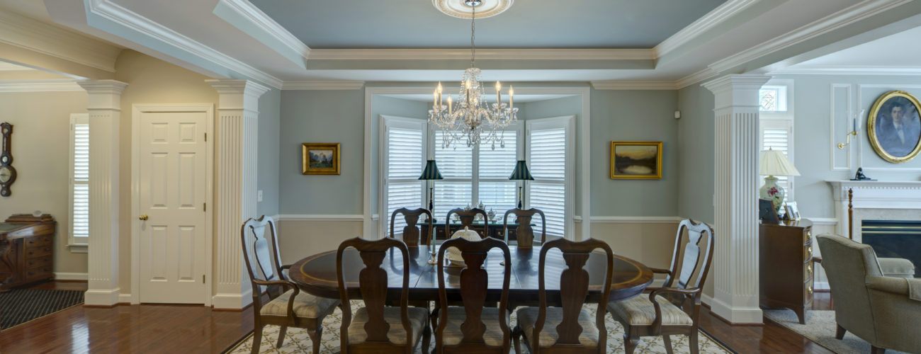 Leesburg Dining Room Interior Paint by Manor Works