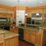 bronzetone 2166-30 by benjamin moore was applied to the walls in the kitchen